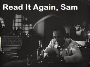 Read it again Sam Challenge